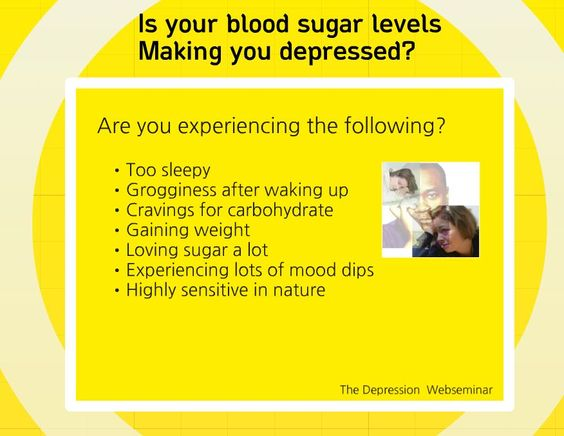Is your blood sugar levels making you depressed? watch the video to find out.