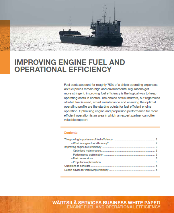 Wartsila white paper on fuel efficiency