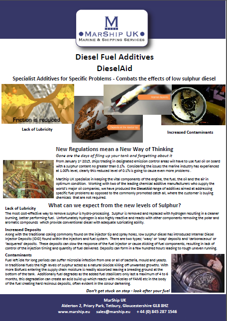 DieselAid Fuel Additives Brochure