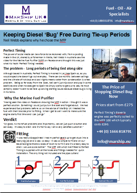 Keeping engines diesel bug free during tie-up