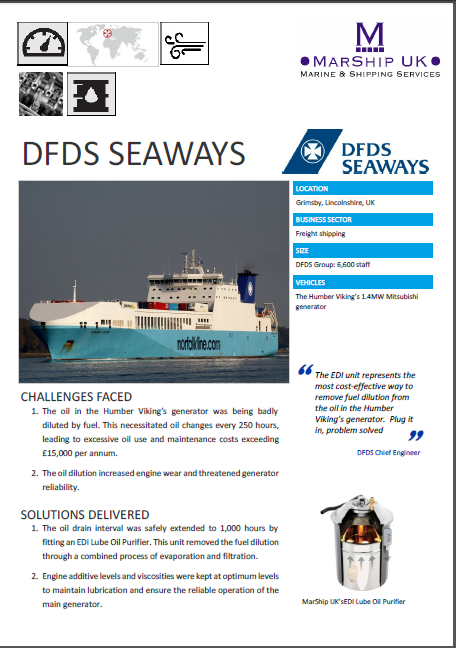 DFDS Case Study, removing water from oil