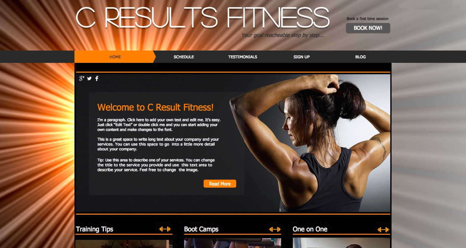 Best Website designer squarespacestudio Fitness website