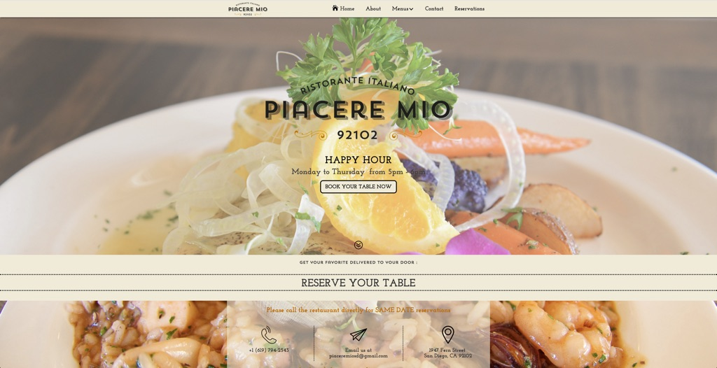 Best Website developper designer California squarespacestudio for restaurants
