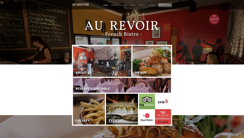 Best Website designer squarespacestudio Restaurant website
