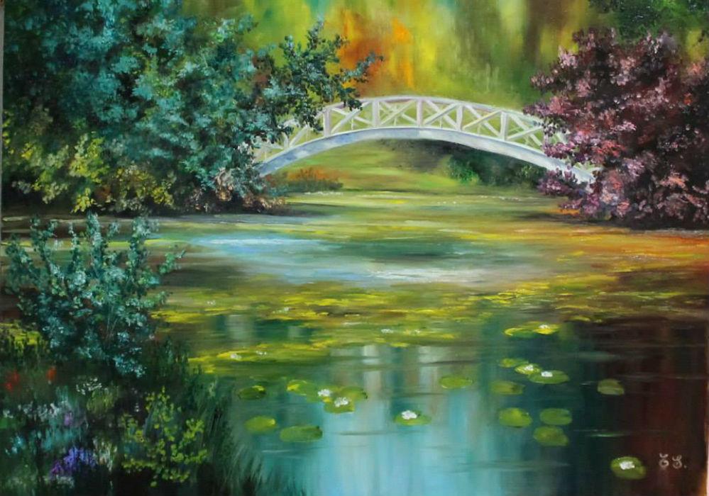 Пруд и мостик