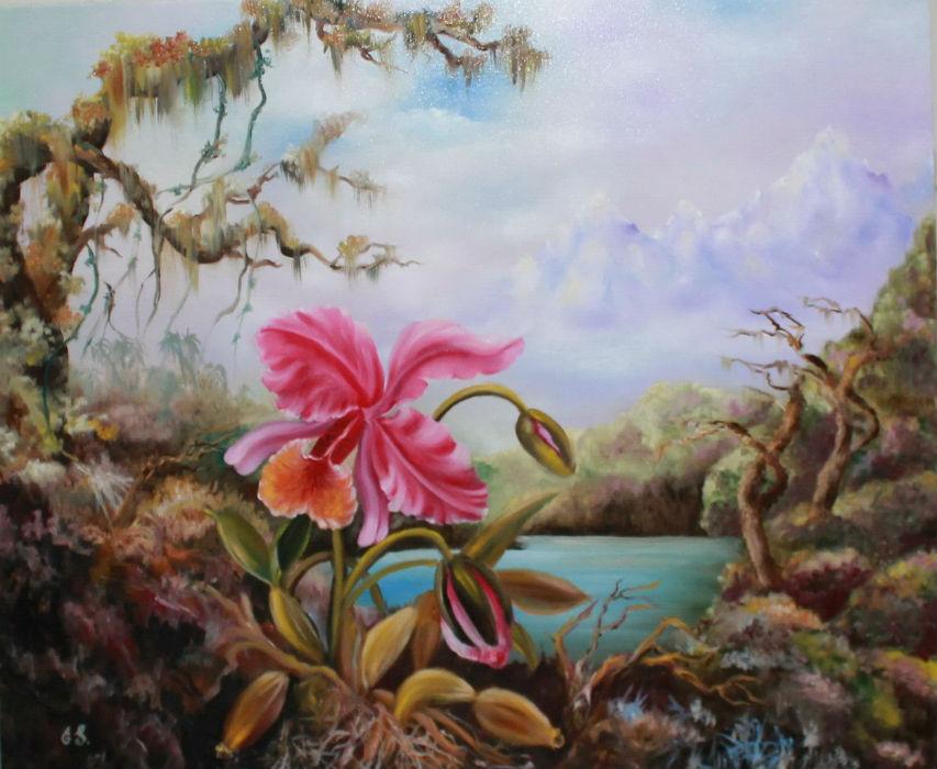 Орхидея у озера