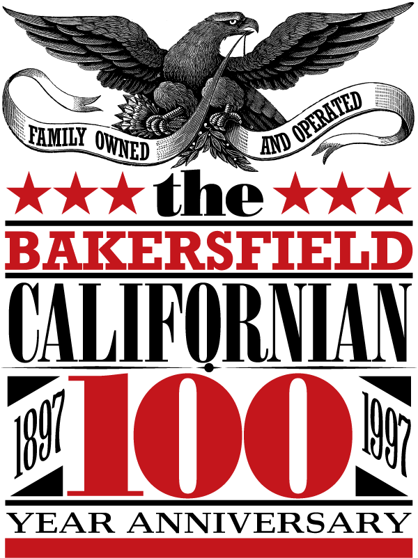 The Bakersfield Californian 100 Year Anniversary Eagle Logo