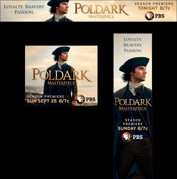 Poldark Season 2 Static Banners