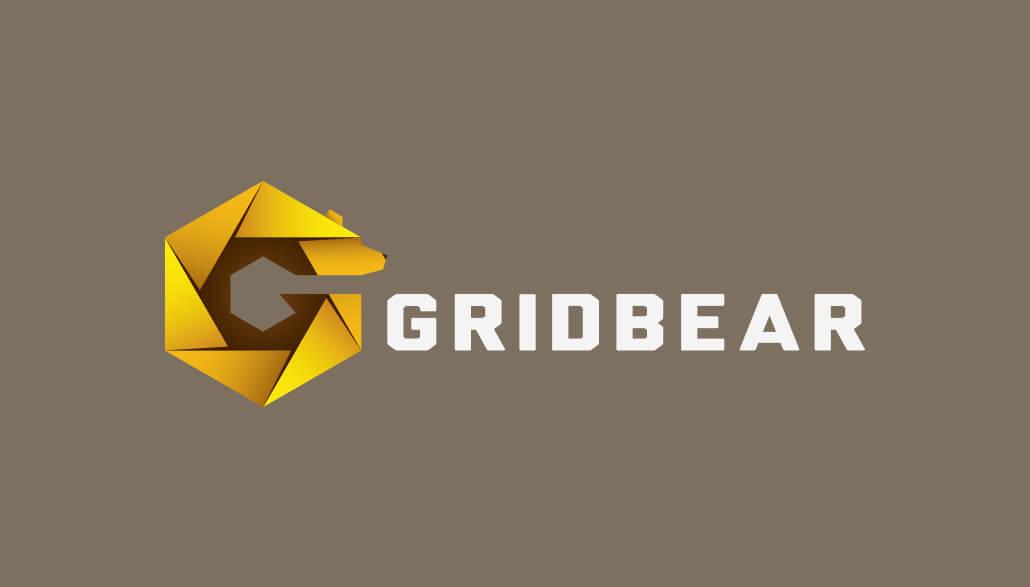 Grid Bear Logo Design