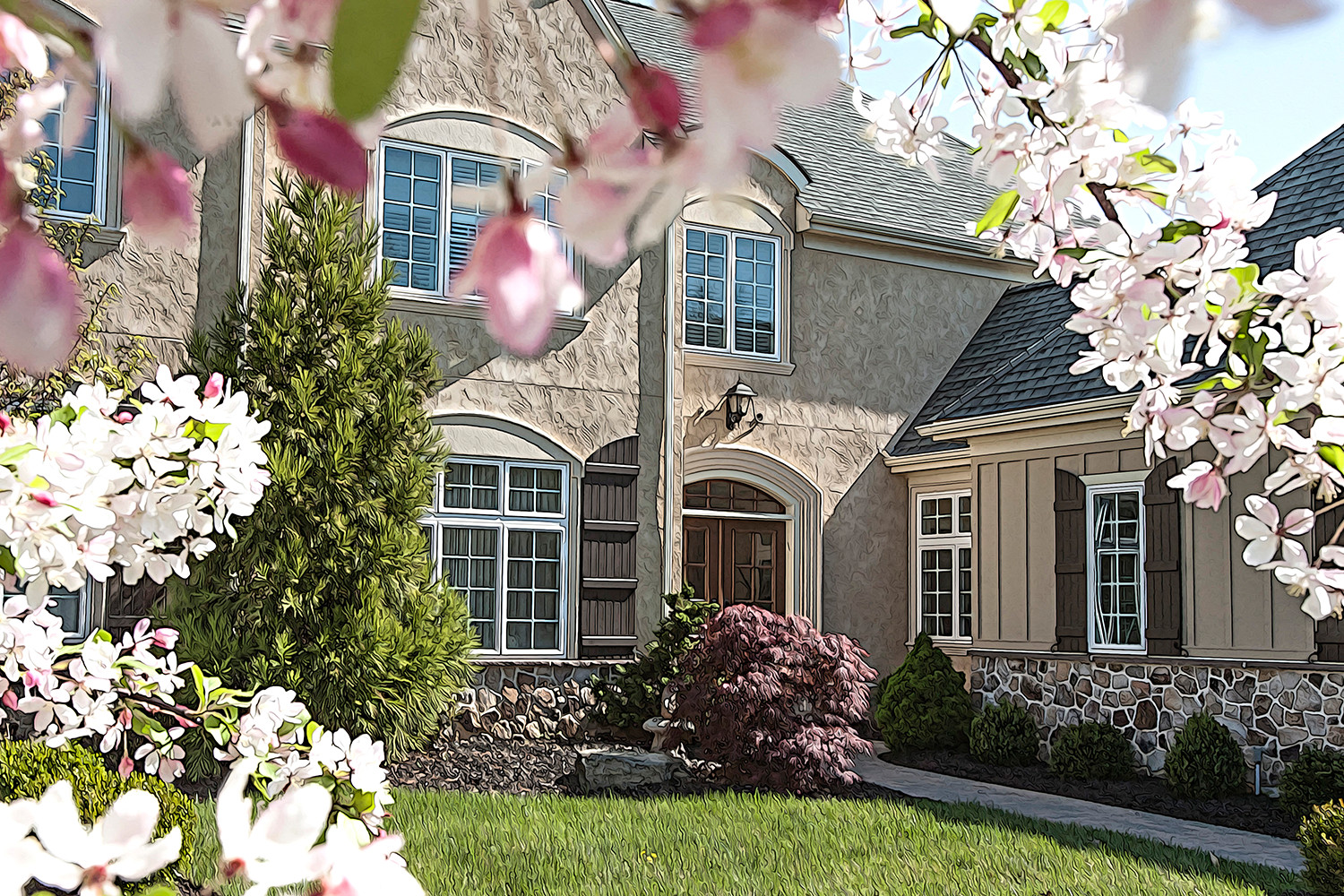 exterior photo of Carriage Home Model