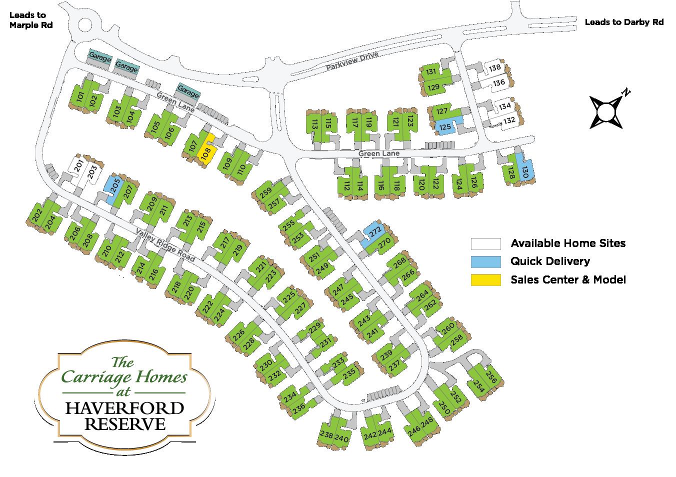 Haverford Reserve Siteplan