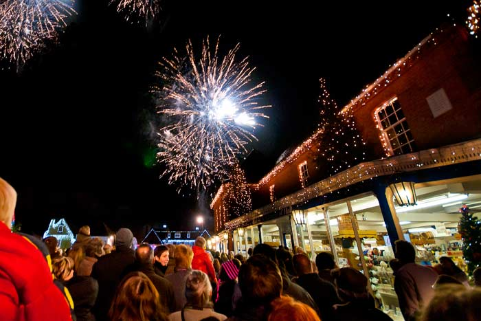 Local Christmas Lights Switch On
