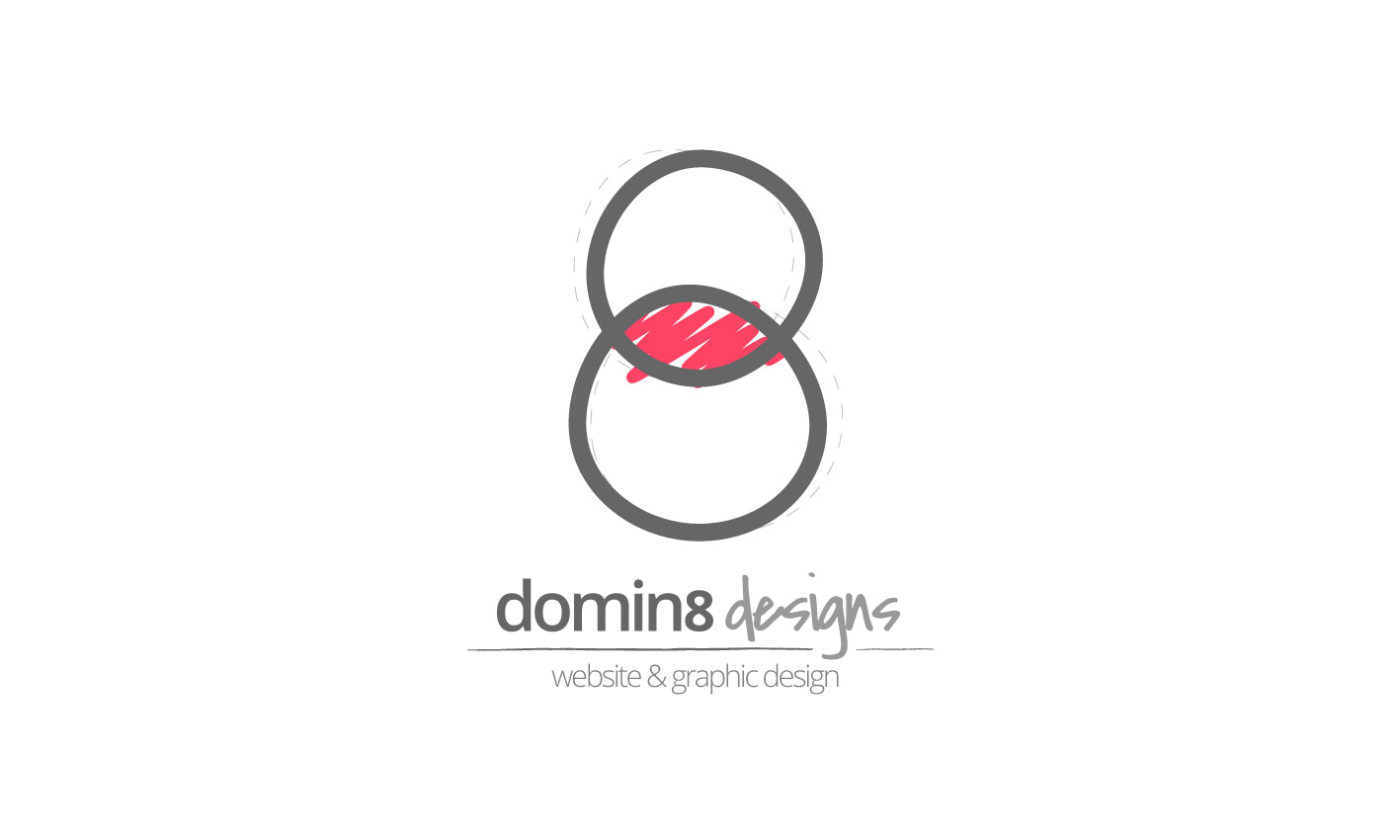 The first iteration of the Domin8 Designs logo.