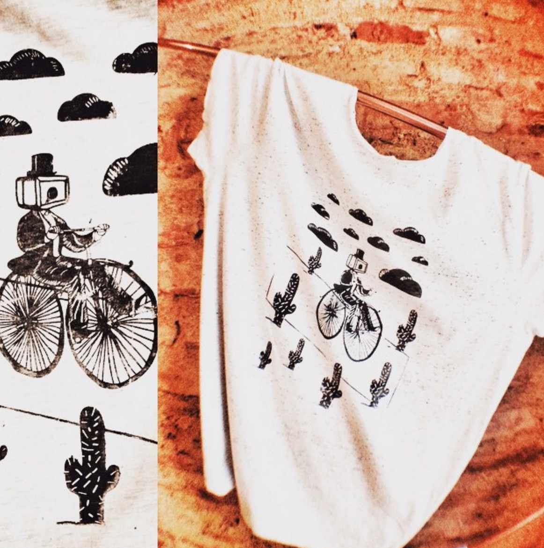 İğne Deliği Kameralı Serigrafi Tişört