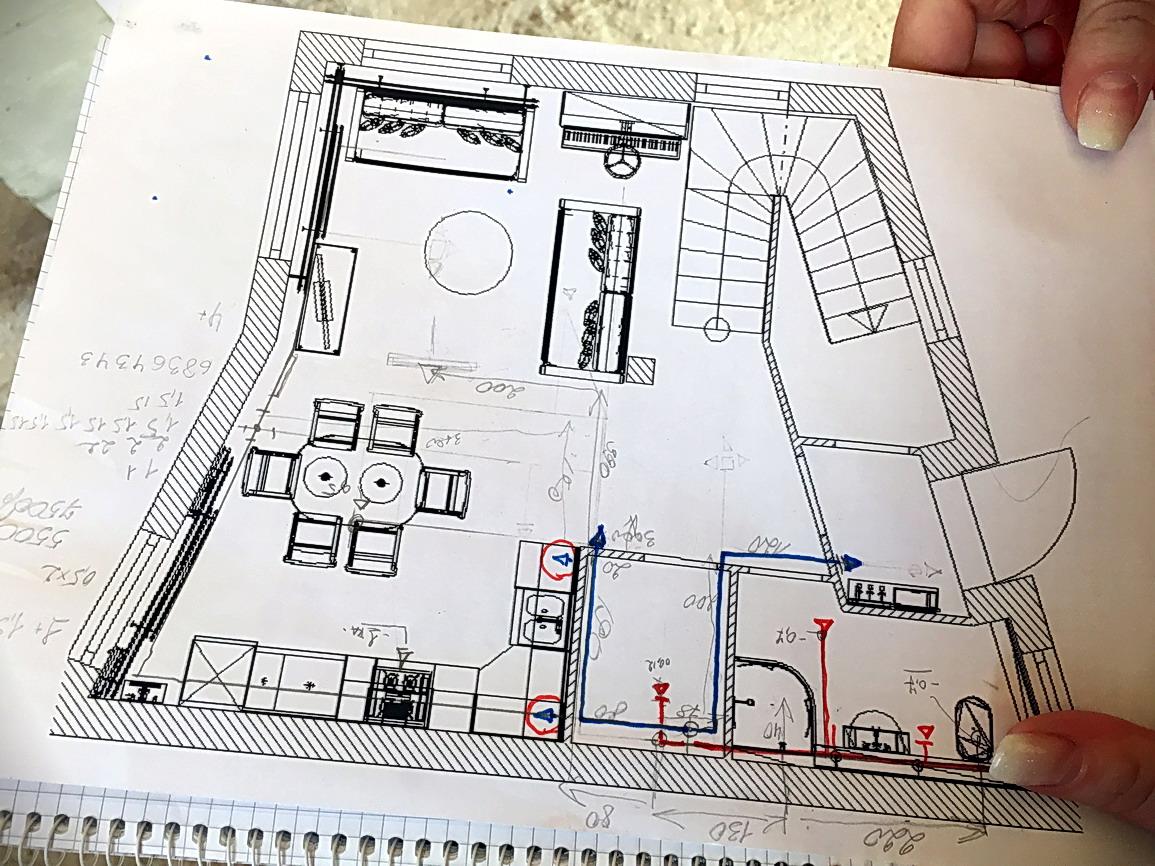 Проект П-образной монолитной лестницы
