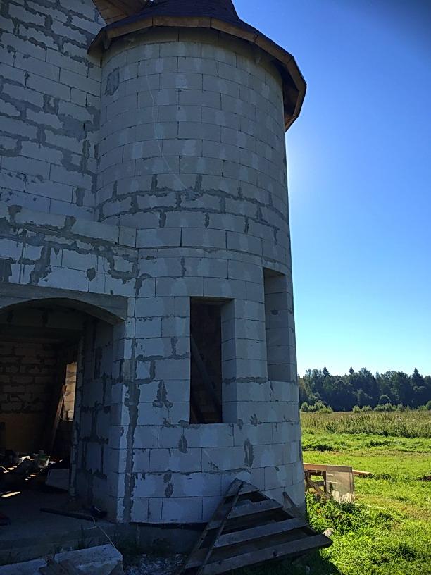 Башня дома для спиральной лестницы