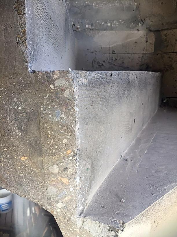Шлифованная бетонная лестница