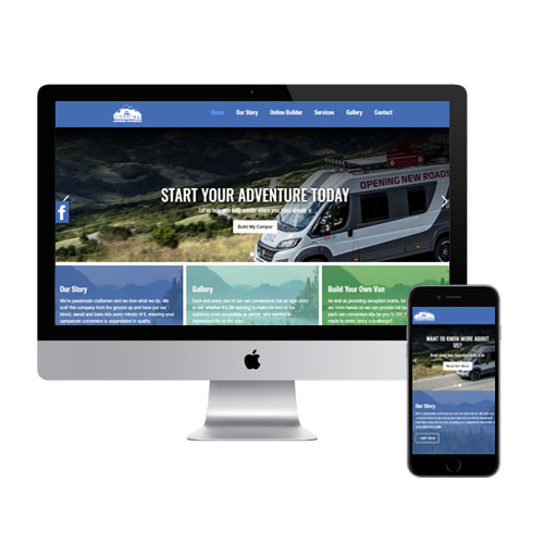 Vanamize Campervan Conversion logo and web design  at Simple Marketing Studio in Sheffield