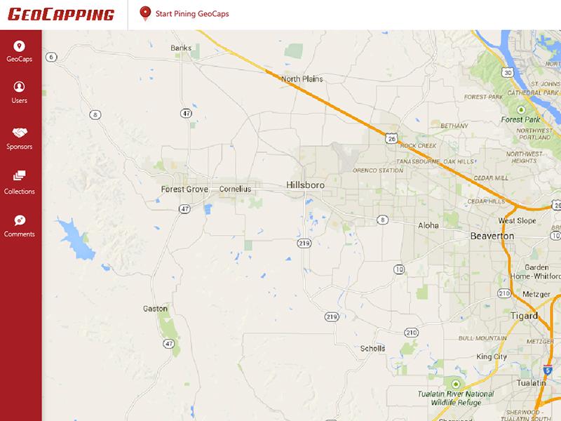 GeoCapping Admin Portal UI