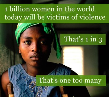 one billion women suffer from violence