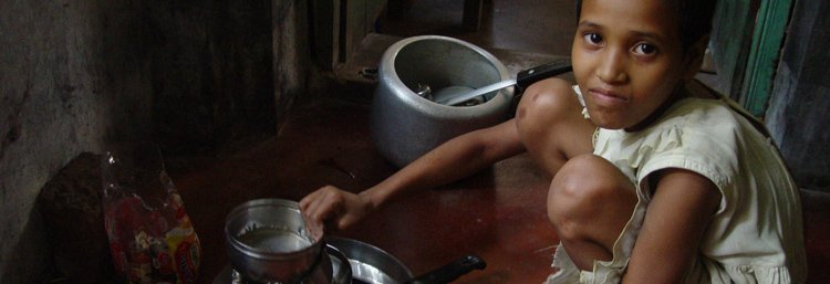 Child servant in India