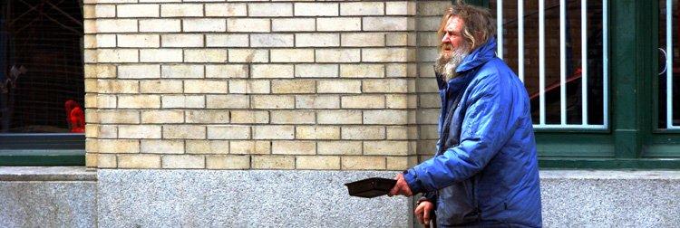 A beggar in Canada