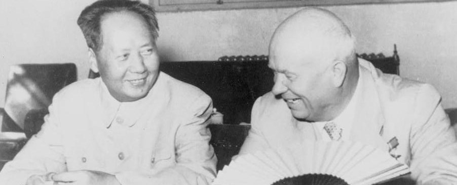 Mao Zedong and Khrouchtchev in 1958 - China and USSR both allies and enemies