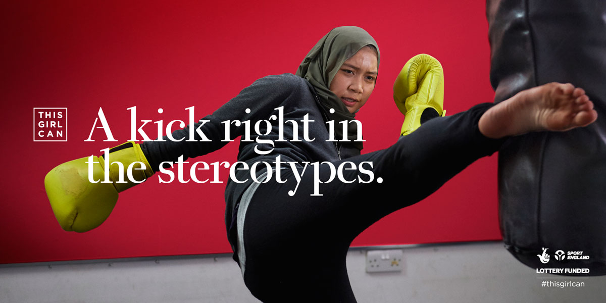 this girl can a kick right in the stereotypes poster