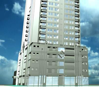 Modern High-Rise 14st Facade