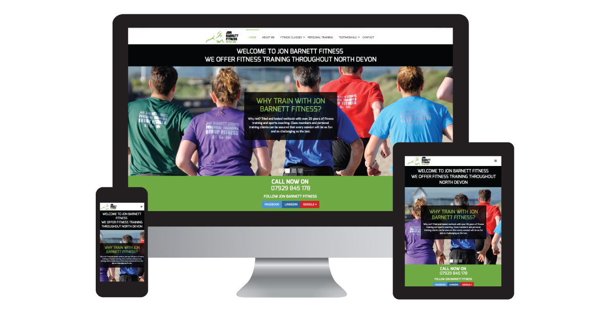 Jon Barnett Fitness - Design in the Shires | Web Design Worcestershire | Graphic Design Worcestershire | Website Designers Malvern, Worcestershire UK