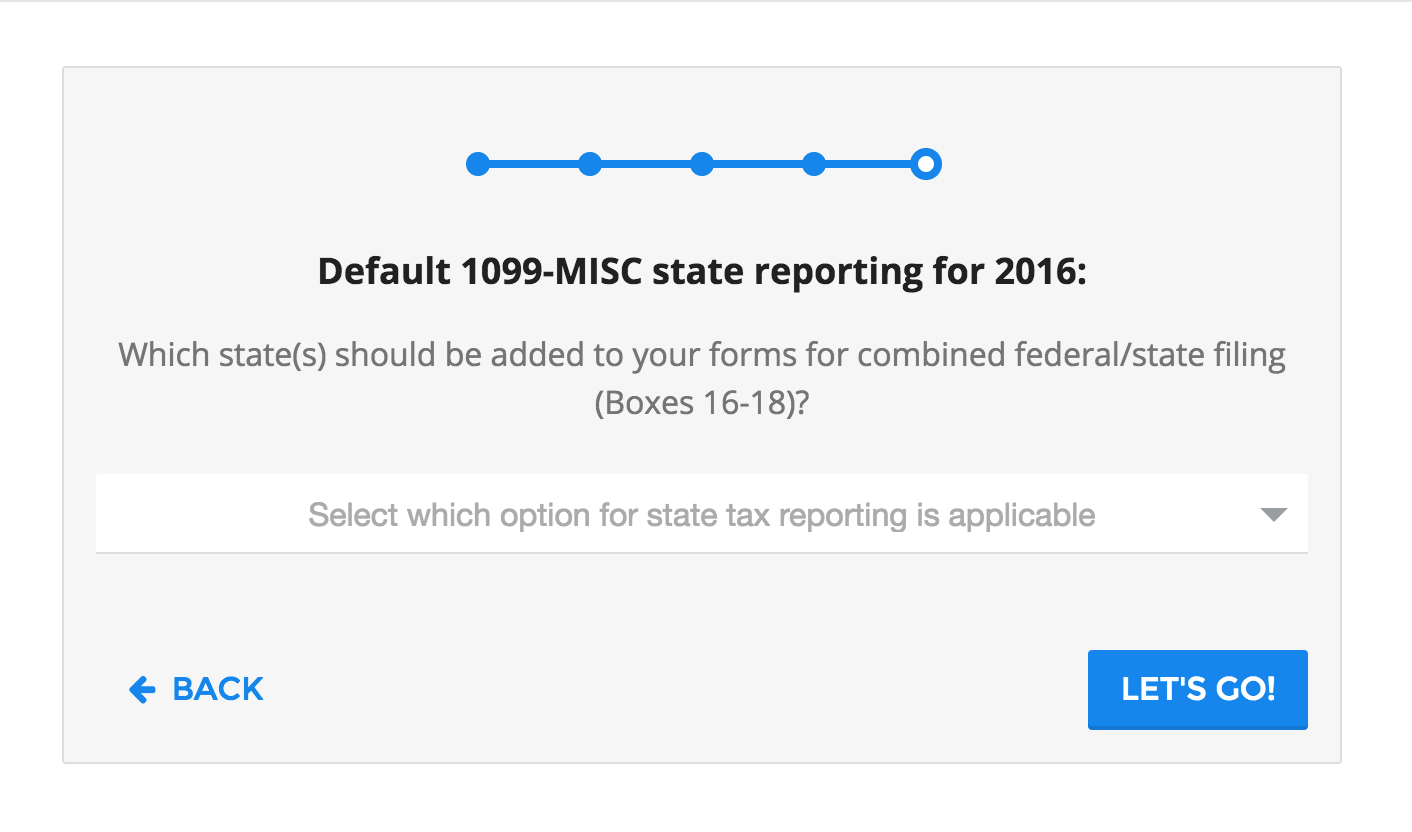 1099-MISC State Settings