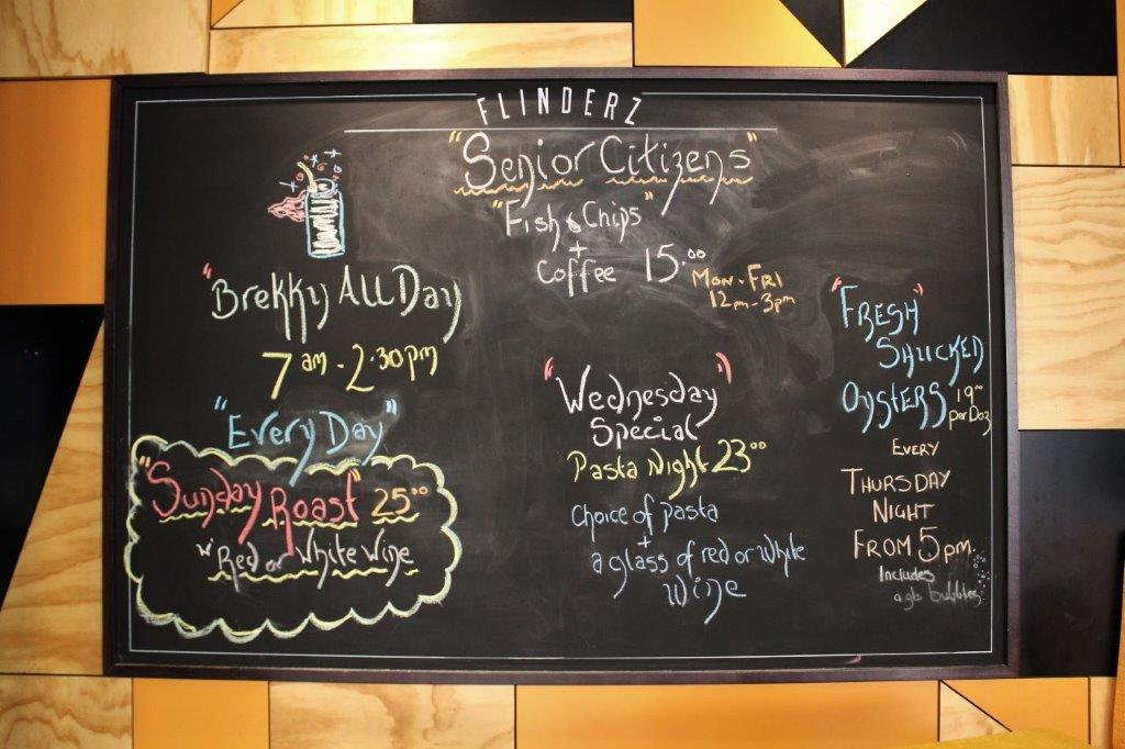 Flinderz specials board