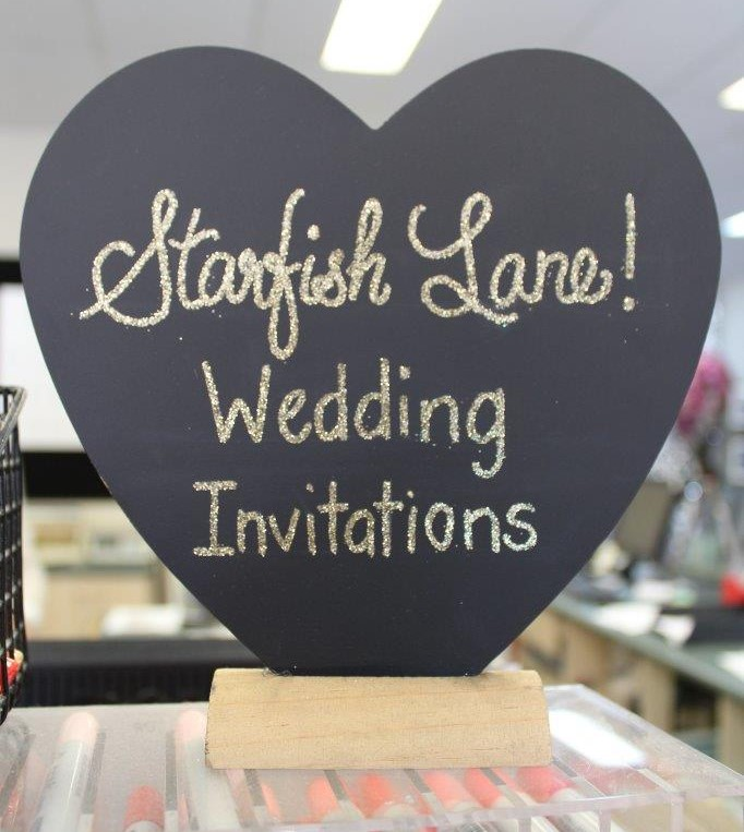 Starfish Lane wedding invitations
