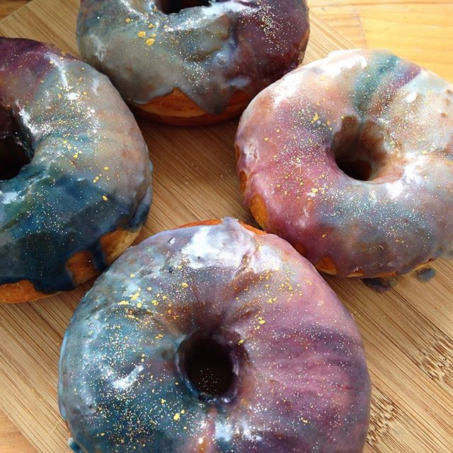 Hand crafted donuts Glazed and confused