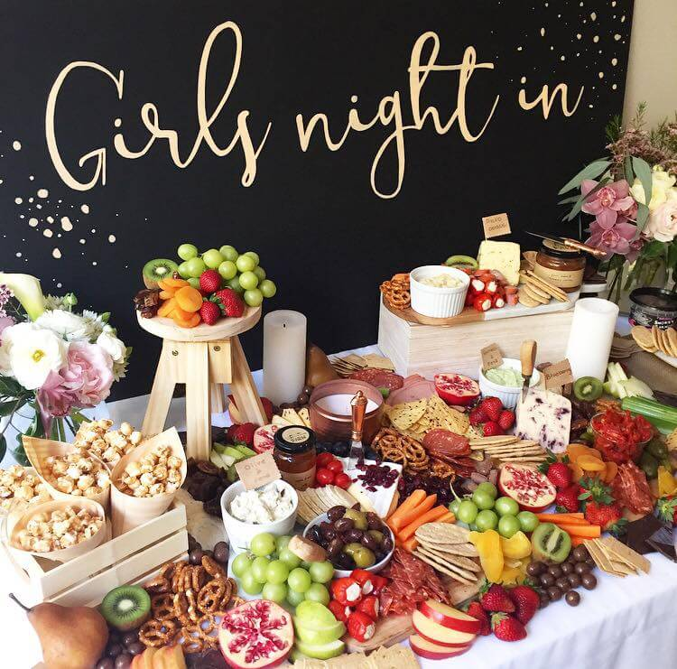 Girls night in grazing table - Tapas Addict