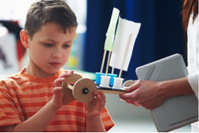 photo of children in a makerspace workshop