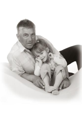 Vater mit seiner Tochter