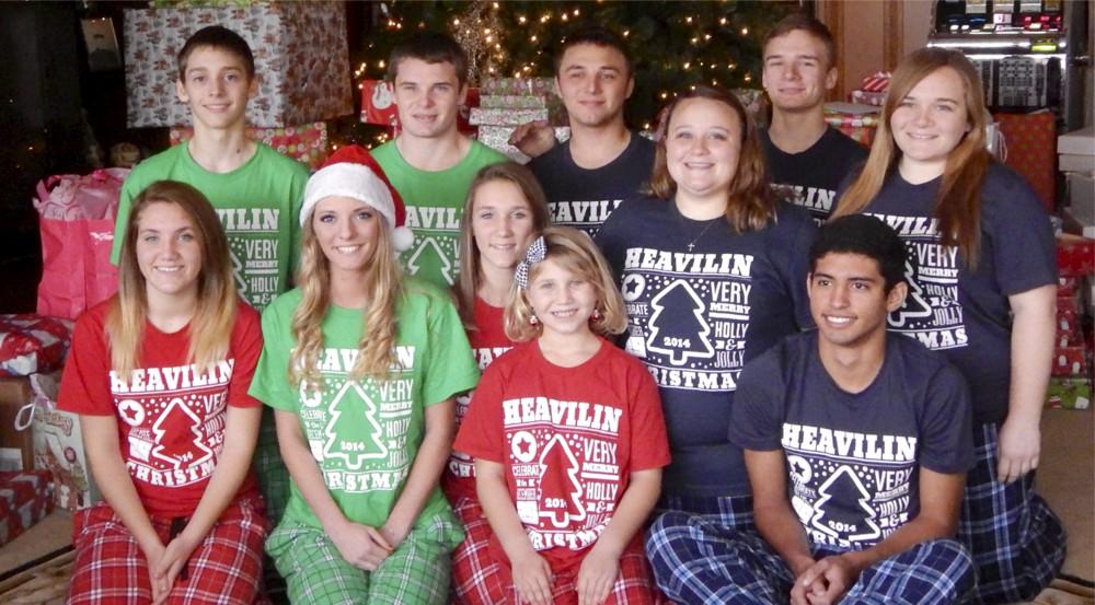 family christmas jammies pajamas photo