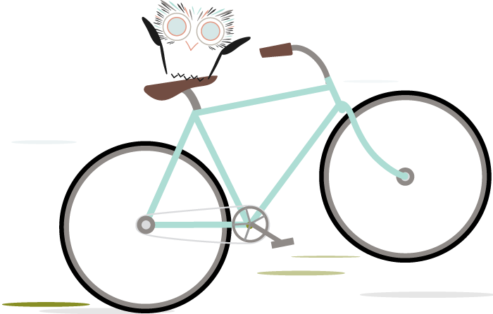 MadSky Web Design Owl on Bike