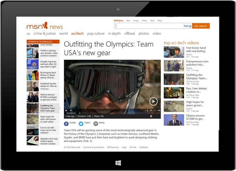 article screenshot in device