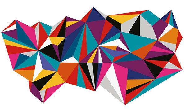 Ticketmaster brand polygon design