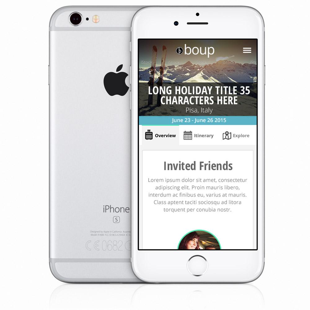 Boup invite friends in device