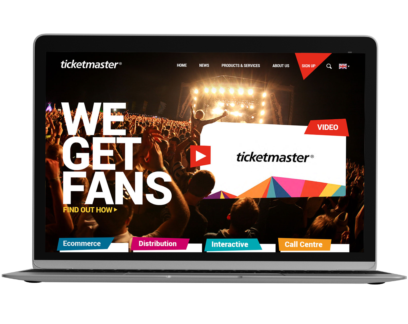 Ticketmaster header in Mac