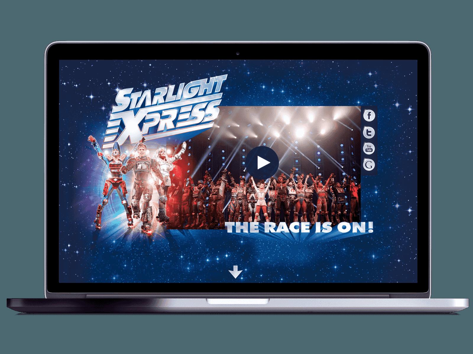 Starlight Express header in Mac