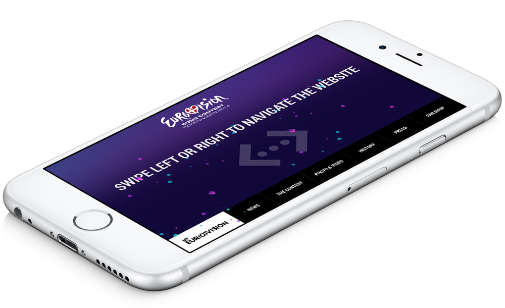 Remote control of website via mobile device