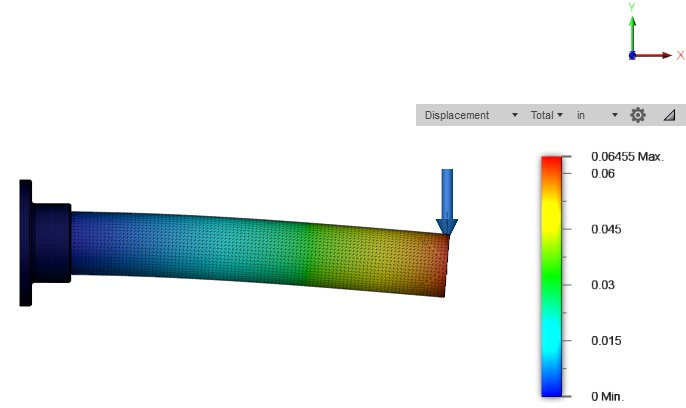 FEA study for cantilever tube