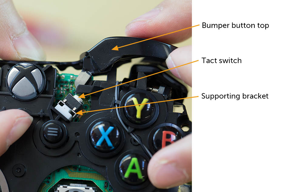 Xbox controller teardown xbox one controller left and right bumpers ccuart Images