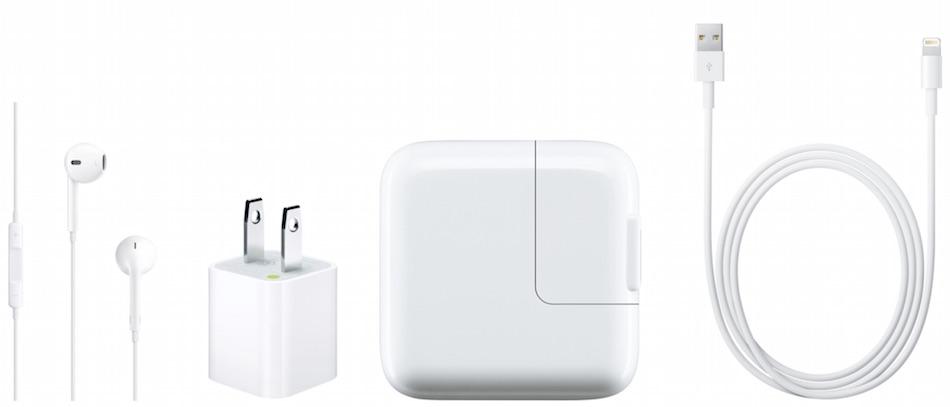 white Apple accessories