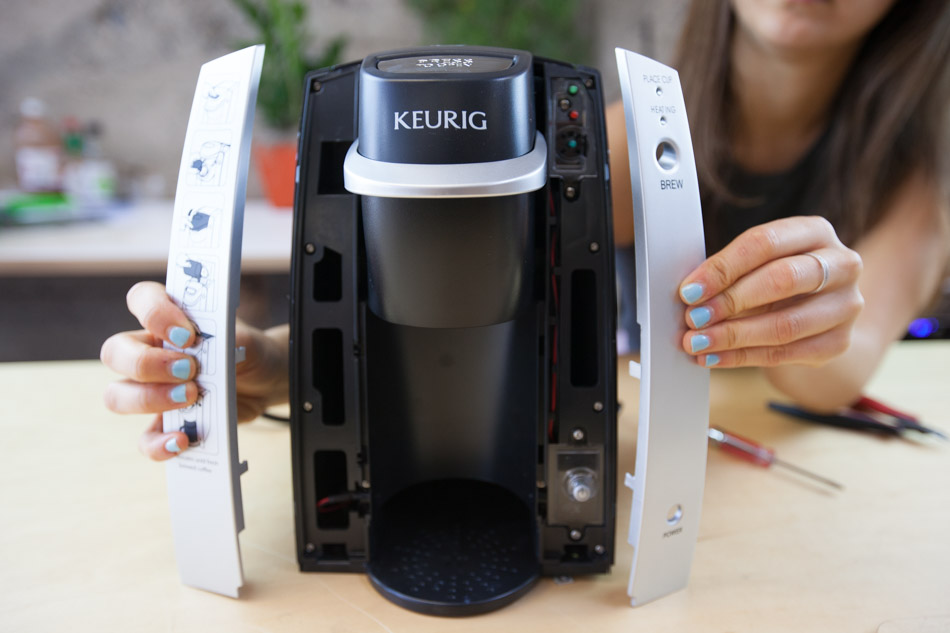 Keurig front panels snap off