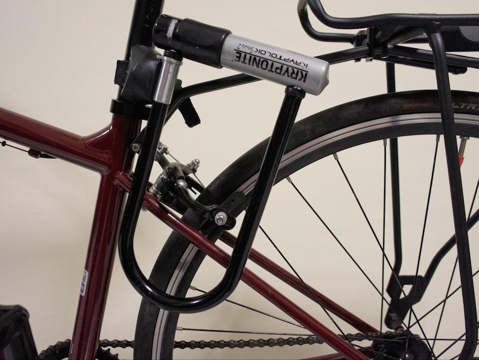 bike frame with U lock